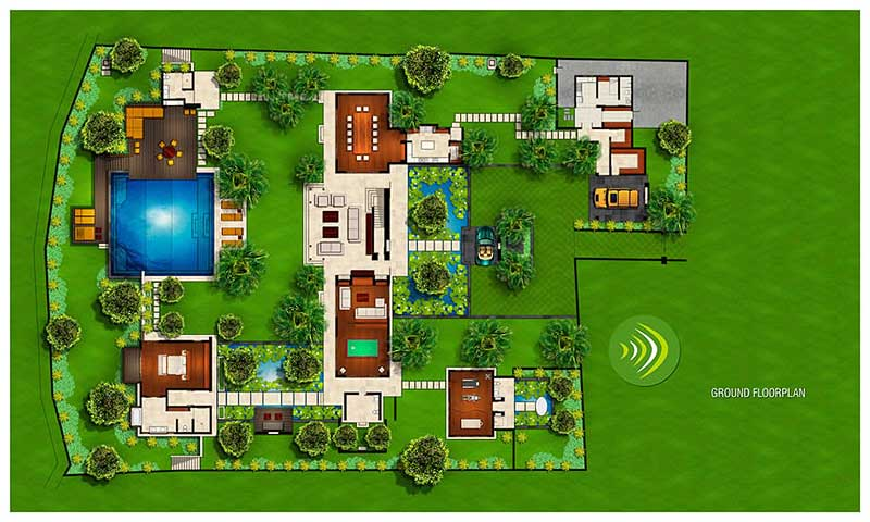 Bali Style Villa House Plans Design Ideas